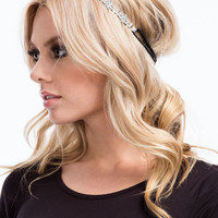 Sparkly Jeweled Flower Headband