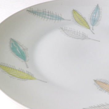 Rosenthal Germany Salad Plate with Colored Leaves Design