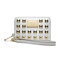 MICHAEL Michael Kors  iPhone 5, 4S and 4 Pyramid-Stud Multifunction Phone Case - Michael Kors