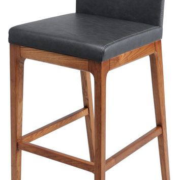 Devon Bar stool Walnut Legs, Antique Gray (Set of 2)