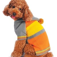 Varsity Stripe Pullover Dog Sweater at barker & meowsky a paw firm since 1998 carries dog clothes, dog accessories, dog carriers, dog collars, dog toys, dog beds and dog treats