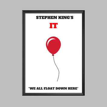 Stephen Kings IT Movie Minimalist Poster Picture Print A4 - A3 - A2 - A1