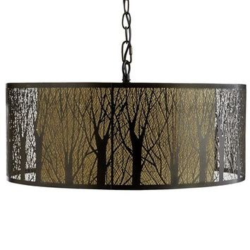 Etched Birches Pendant Light