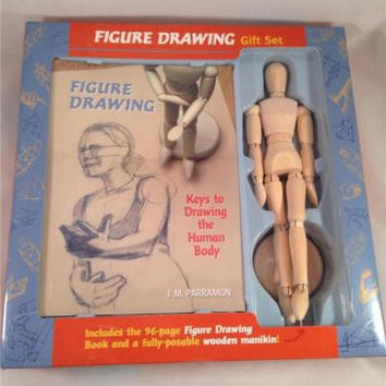 Figure Drawing Posable Wooden Manikin - Jointed Human Body ~ J M Paragon Gift Set