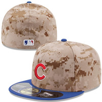 Chicago Cubs New Era Memorial Day 59FIFTY Fitted Hat – Camo
