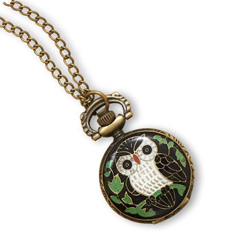 Owl Locket Timepiece