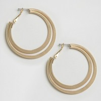 Glamorous Double Hoop Earrings at asos.com