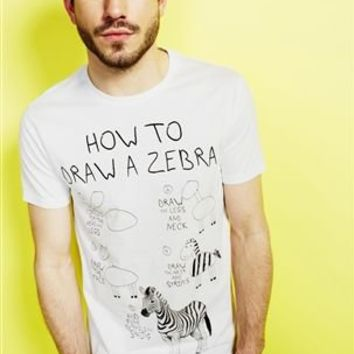 Buy White How to Draw a Zebra T-Shirt from the Next UK online shop