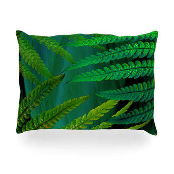 "Alison Coxon ""Forest Fern Green"" Plant Oblong Pillow"