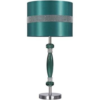 L801644 Nyssa Acrylic Table Lamp (1/CN) - Teal/Silver Finish - Free Shipping!