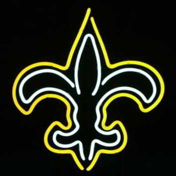 """Business Custom NEON SIGN board For Football LED New Orleans Saints REAL GLASS Tube BEER BAR PUB Club Shop Light Signs 15*14"""""""