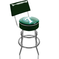 Tulane University Padded Swivel Bar Stool with Back