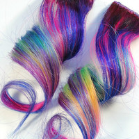 Purple Unicorn / Human Hair Extension / Purple by MissVioletLace