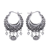 MYTHIC AGE Retro Antique Tibet Silver Color Vine Hollow Filigree Vintage Tassel Earrings For Women Girls
