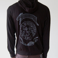Lunar Hare Zip Up Lightweight Beach Hoodie