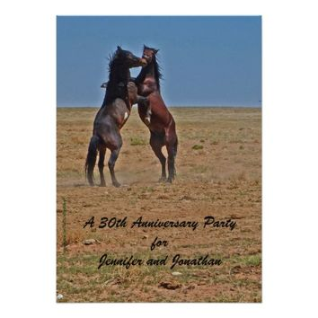 30th Anniversary Party Invitation Dancing Horses
