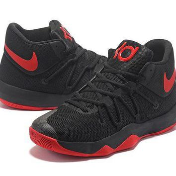 DCCKIJ2 Nike Men's Durant Zoom KD 5.5 High-Top Basketball Shoes Black Red