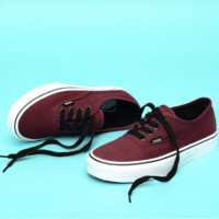 """Vans"" Casual Classic Shoes Retro  low tops Shoes Wine red"