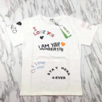 KENZO Fashion Letter Print T-shirt ( I love you ❤ )