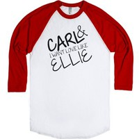 Carl and Ellie(Baseball)-Unisex White/Red T-Shirt