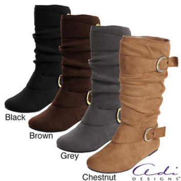 Glaze by Adi Women's Faux Suede Slouchy Boot | Overstock.com
