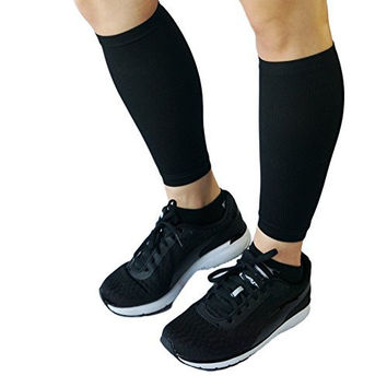 Lunauva Women's Calf Leg Compression Sleeves Socks Helps with Circulation. Use for Shin Splint Support, Running, Basketball, Baseball, Walking, Cycling, Training, while Pregnant & While Traveling