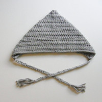 Pixie Hood Hat - Dallas Gray - Made To Order Unisex