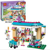203Pcs Friends Vet Clinic  Princess Anna And Kristoff's Sleigh  Set  Building Blocks Friends Toys Princess Compatible With Lego