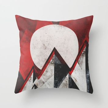 Mount kamikaze Throw Pillow by HappyMelvin