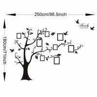 Photo Frame Tree Wall Sticker Home Decor Living Room Bedroom Wall Decals