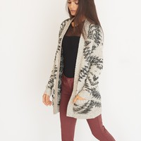 Jacquard Sweater Cardigan