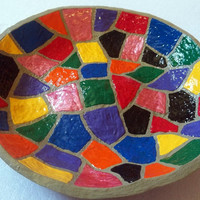 Painted Mosaic Gourd Plate