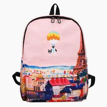 High Above Paris Frenchie Backpack