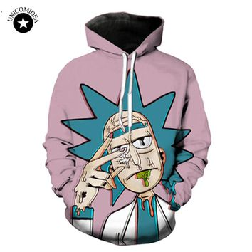 Unicomidea Rick And Morty Cartoon Hoodies 3d Hoody Sweatshirt Men Women Streetwear Psychedelic Tops Hip Hop  Casual Pullover 4XL