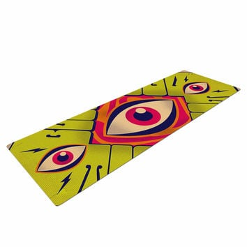 "Roberlan ""Blood Sweat Tears And Soul"" Green Square Yoga Mat"