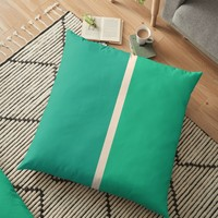 'Half a Jade' Floor Pillow by Space & Lines