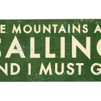 One Kings Lane - Wall Decor We Love - The Mountains Are Calling, Green