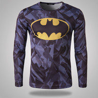 Batman Men's Long Sleeve Slim Fit Tee