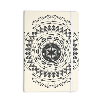 "Famenxt ""Boho Tribe Mandala"" Beige Black Everything Notebook"