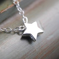 Star Necklace Dainty Silver Necklace
