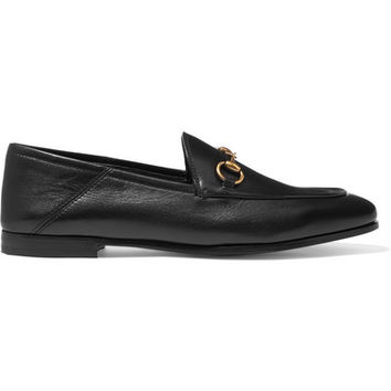 Gucci - Horsebit-detailed leather collapsible-heel loafers