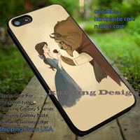 Beauty and The Beast Sweet Moment Drawing Art iPhone 6s 6 6s+ 5c 5s Cases Samsung Galaxy s5 s6 Edge+ NOTE 5 4 3 #cartoon #disney #animated #BeautyAndTheBeast dt