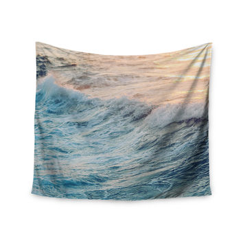"Chelsea Victoria ""Sherbert Ocean"" Orange Nature Wall Tapestry"