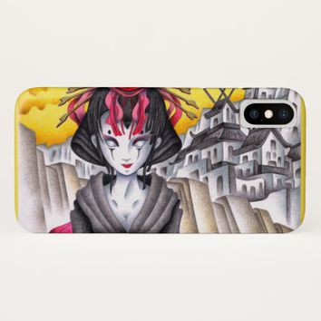 Cyborg Geisha iPhone X Case