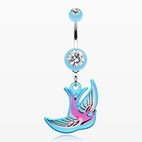 Freedom Bird Belly Button Ring