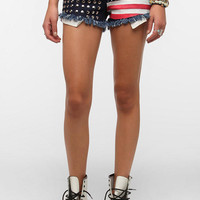 Urban Outfitters - Reverse Americana Studded Denim Short