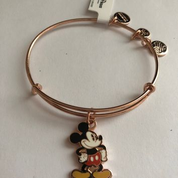 Disney Mickey Silhouette Alex and Ani Rose Gold Finish New with Tags