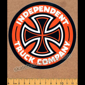 Independent Truck Company Skateboard Sticker - Orange
