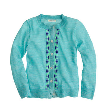crewcuts Girl's Embroidered Tile Cardigan