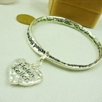 Best Most Beautiful Things Must Be Felt With Heart Bracelet --bx159